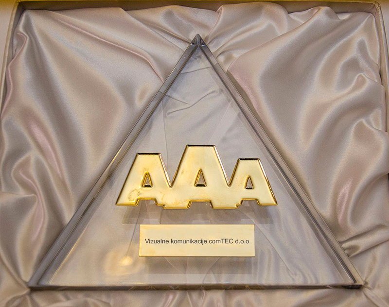 Plaketa zlate bonitetne odličnosti AAA