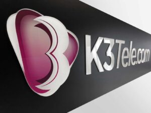 3D advertising sign made of acrylic glass - K3 Telecom