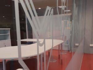 Grafiken für Glasoberflächen - Milchglassfolie