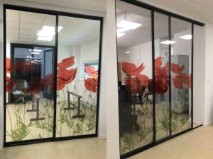 Dekorative Aufkleber fur Glasflächen