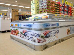 Grafische Ausrüstung von Kühlschränken - Hofer