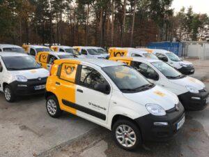 Grafiken für Fahrzeuge - Fiat Panda - Pošta Slovenije