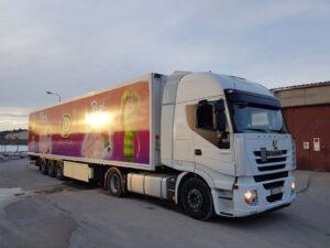 Grafiken für Lastkraftwagen - Perutnina Rumänien