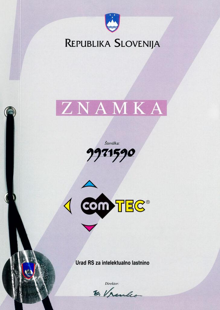 Registrirana blagovna znamka comTEC