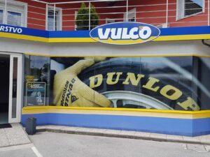Werbeaufkleber für Schaufenster - Dunlop