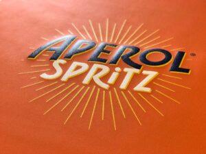 Druck auf Kunstleder - Aperol Spritz