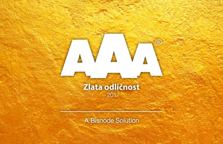 Certifikat zlate bonitetne odličnosti AAA 2017